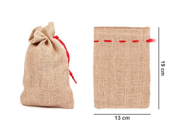 Adventskalender Säckchen Jutesäckchen - 12-48 Stück - 3 Größen – Bild 3