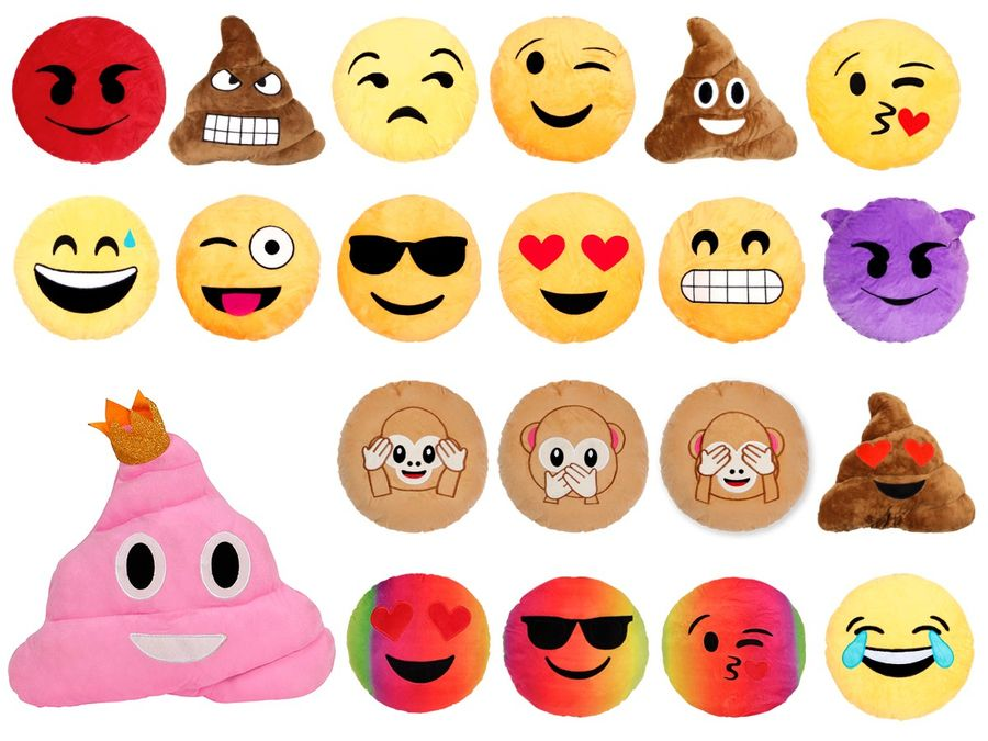 Emojicon Kissen Smilie Emoticon Couchkissen