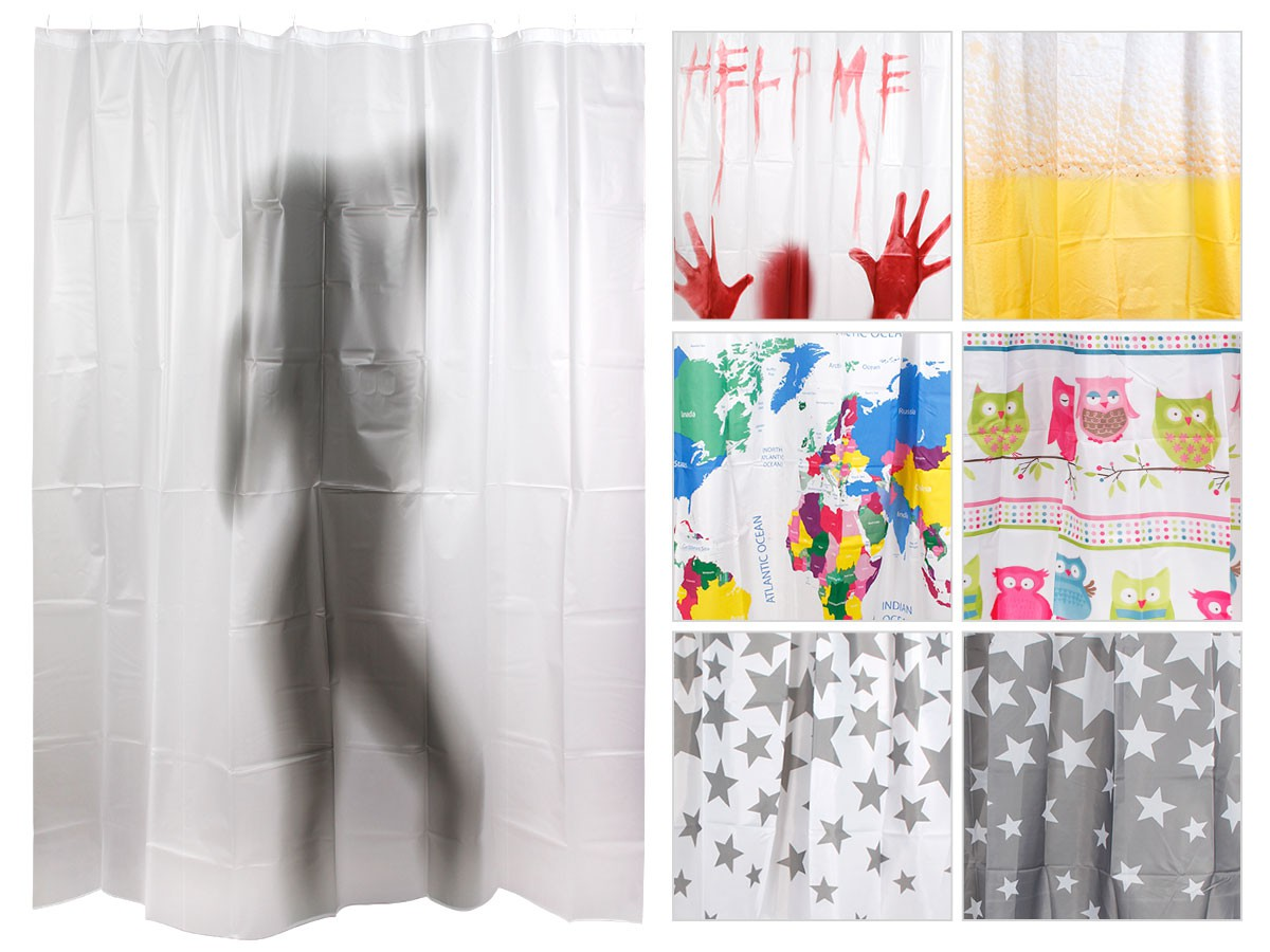 Alsino Curtain Owl 180cm X Help Me Shower Enclosure Textile Bath