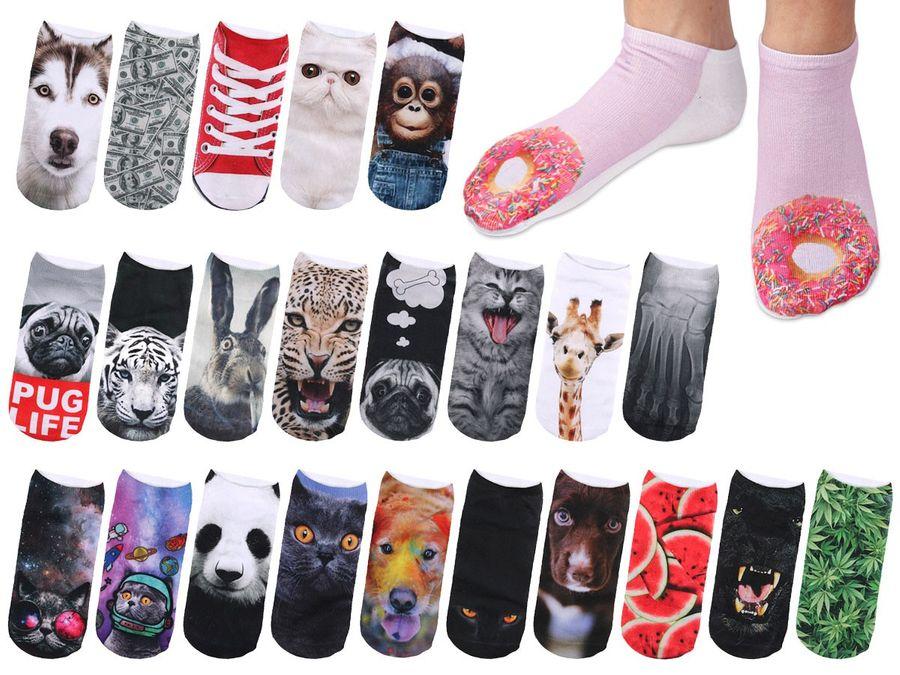 Sneaker Socken bedruckt mit Motiv
