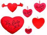 Coussin peluche en forme de coeur rouge Idée cadeau saint valentin Ambiance amoureuse agréable et romantique garantie