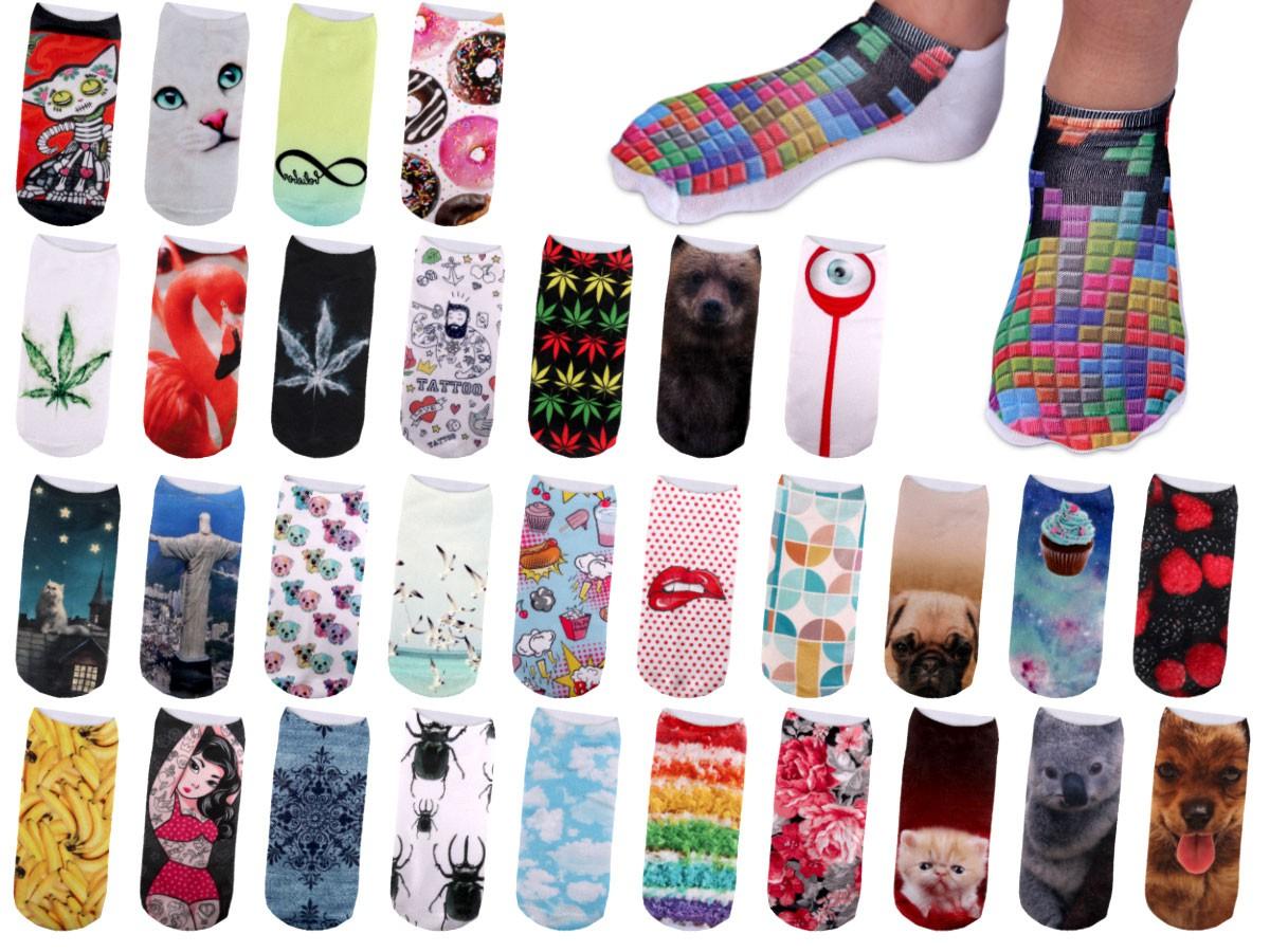 Sneakers Bunt S?ckchen Damen Teenager Motiv-Socken Hipster Design F��?linge 36-39 48YH3zxxN
