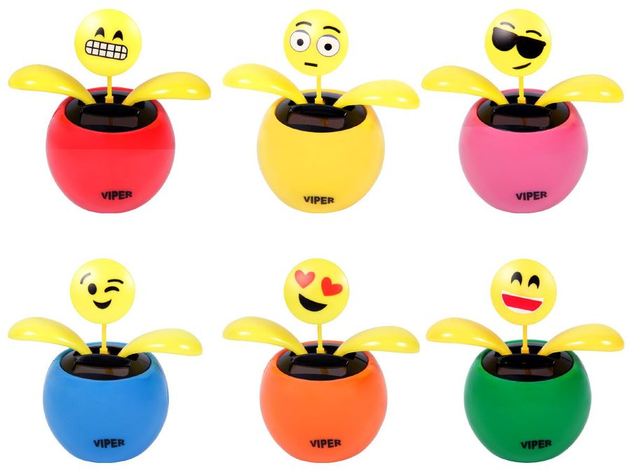 Wackelblume mit Emoticon Emojicon Solar Blume Smiley  – Bild 1