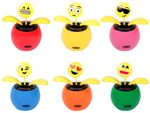 Wackelblume mit Emoticon Emojicon Solar Blume Smiley