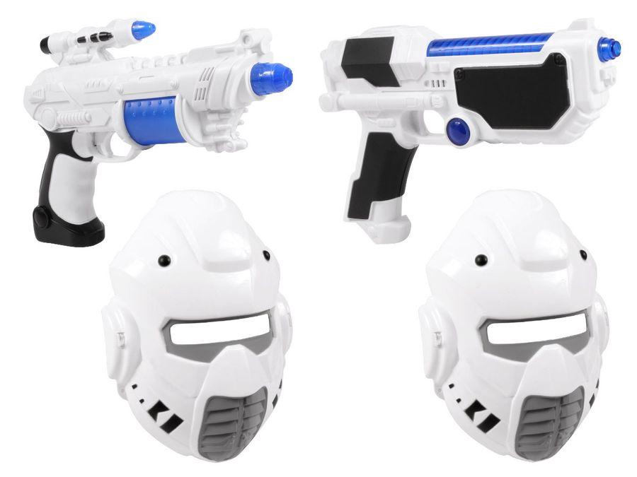 Alsino Sternenkämpfer Mondkämpfer Verkleidung Set YG009032 Laser Pistole Maske Sound Licht
