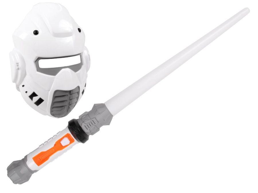 Alsino Laserschwert mit Maske YG0090000 Sternenkämpfer Mondkämpfer Set Licht Sound Space Wars