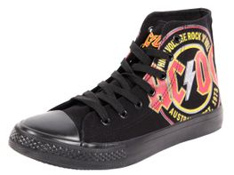 ACDC Original Schuh Rock AC/DC Größe 37-47 High Voltage Rock n Roll High Top