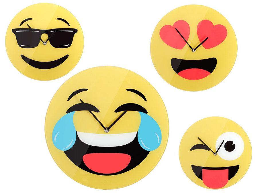 Emoticon Emojicon-con Wanduhr 30 cm