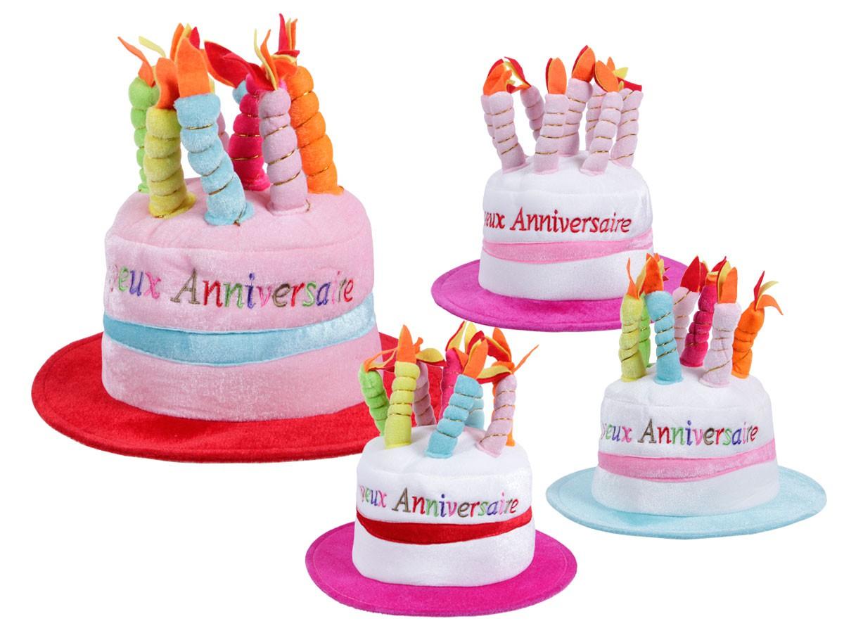 Joyeux Anniversaire Birthday Hat Cake Candlehat