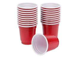 Alsino Shooter Becher 79/3935 Partybecher Shooterbecher Kunststoff 56ml Mini Shooter Cup rot 20 Stk