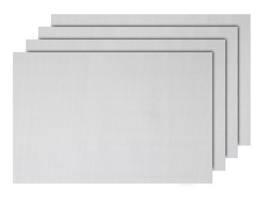Alsino 4er Set edle Platzmatten TS-112 weiß Tisch Sets Platzset Tischmatten Untersetzer Platzdeckchen