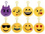 Pendentif Porte-clés porte clé en  peluche Ø 12 cm Smiley doux Emojicon émoticônes idée cadeau ou simplement comme un jouet en peluche pour s'exprimer Portez le dans votre sac ou en pendentif