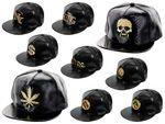 Casquette chapeau croco look aspect cuir noir motif 3D doré avec brillants Hip-hop cap fille garçon unisex en PROMOTION très à la mode apprécié des jeunes idée de cadeau de noel ou d'anniversaire