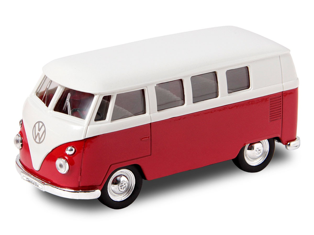 vw bulli bus 1963 t1 modellauto 12 cm classical bus modell bully welly ebay. Black Bedroom Furniture Sets. Home Design Ideas