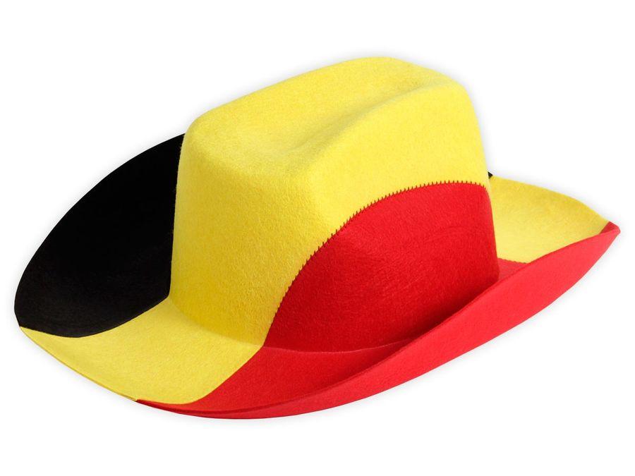Alsino Cowboyhut Belgien Fanhut 00/0746 Fußball schwarz gelb rot Fanartikel Fußballhut