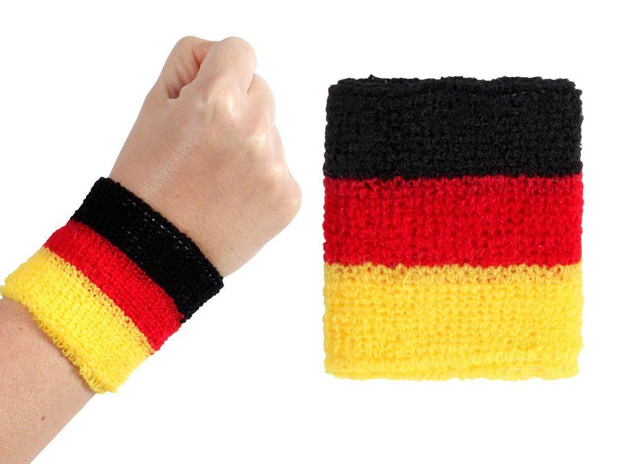 Alsino 2 Stk. Schweißband Armband Deutschland 00/0766 Fußball Fanartikel Deutschlandflagge Fan Accessoire – Bild 1