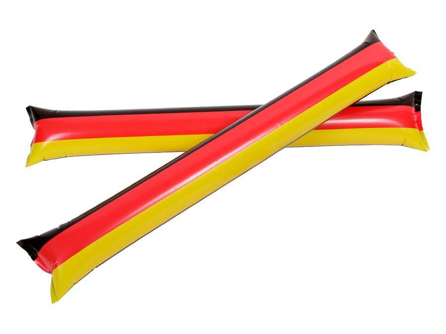 2 Stk Deutschland aufblasbare Klatschstangen 00/0830 Klatschstäbe 60x10 cm Fussball Fanartikel
