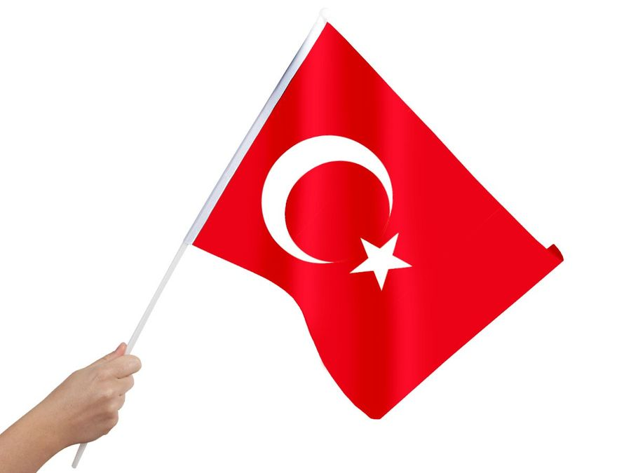 Alsino Türkei Stabflagge 30x45 cm Stabfahne 00/0858 Flagge Fahne Fußball WMStockflagge