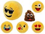 Alsino Emojicon plush ball Emoticon Plush Plush yellow