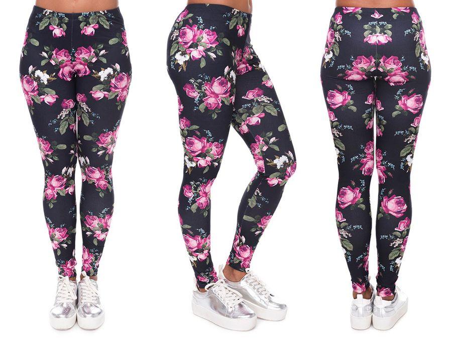 Gym Leggings Fitness Sport Leggins mit Muster ALSINO – Bild 23