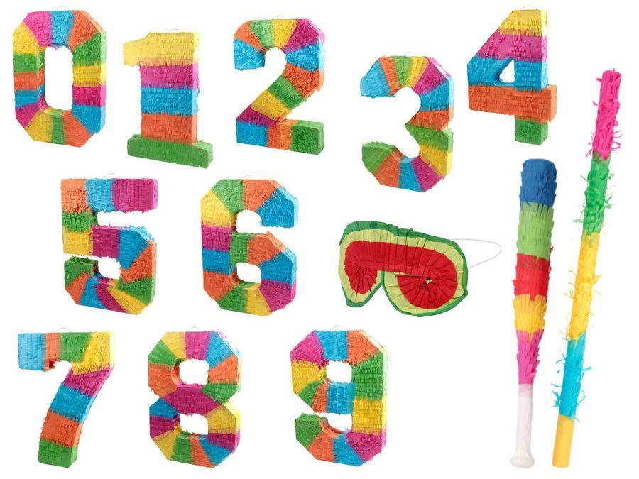 Pinata Geburtstag Schlagpinata Event Zahlen 0-9 Kindergeburtstag Partydeko Dekoration Geburtstagsdeko von Alsino