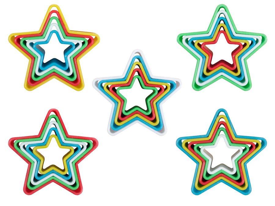 Keksausstecher Stern Ausstechform Ausstecher Kunststoff Set Kuchenform Plätzchen Kekse von Alsino