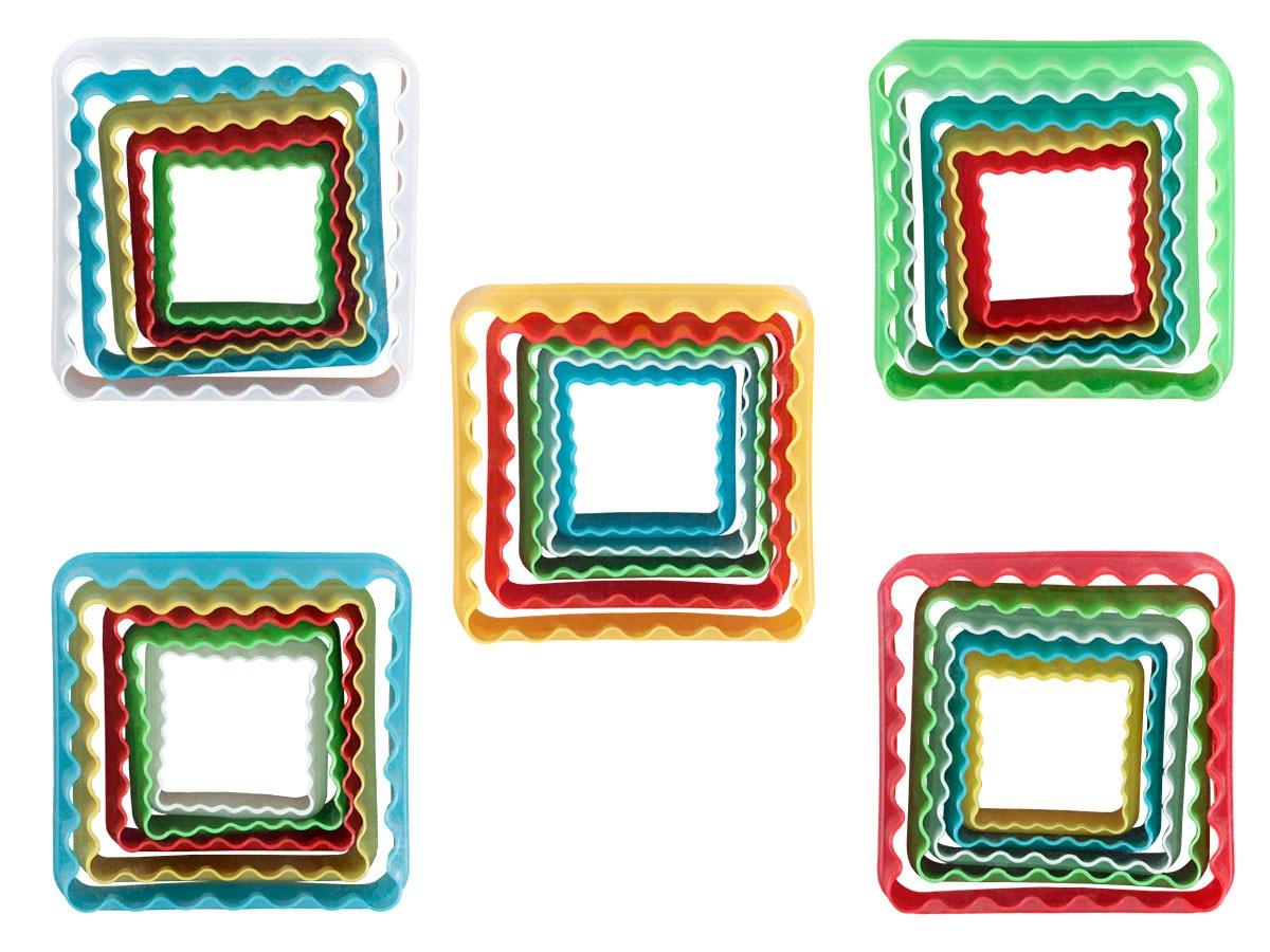 keksausstecher quadrat ausstechform ausstecher kunststoff set kuchenform pl tzchen kekse von. Black Bedroom Furniture Sets. Home Design Ideas