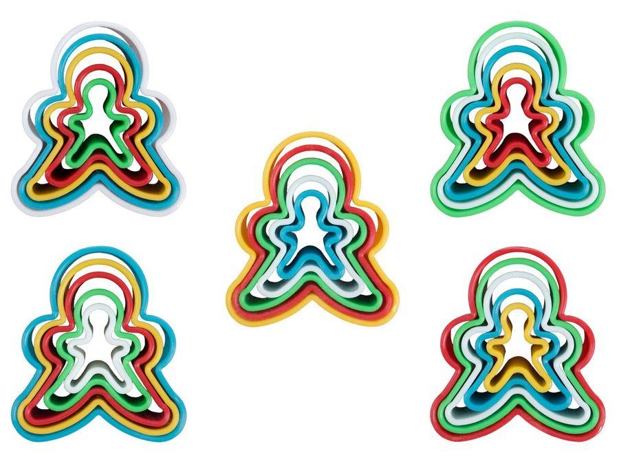 Keksausstecher Mensch Ausstechform Ausstecher Kunststoff Set Kuchenform Plätzchen Kekse von Alsino
