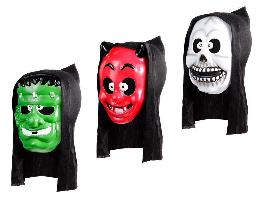 Horrormaske Gruselmaske Roter Teufel Halloween Weißer Geist Maske Fasching Party Karneval von Alsino