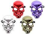 Totenkopfmaske Metallic Look Horror Skeleton Grusel Maske Halloween von Alsino