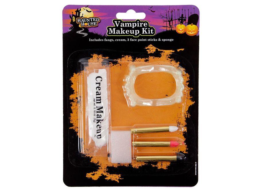 Halloween Schmink Set Make Up Kit Horror P977012 Gebiss Kunstblut Schminkset Zombie von Alsino