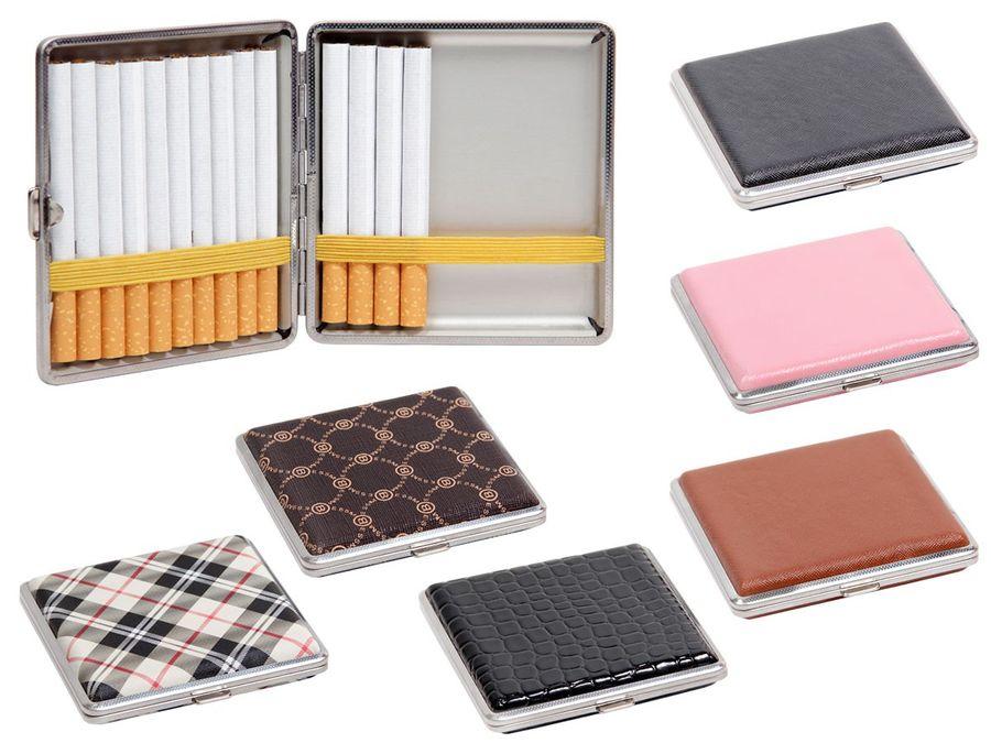 Zigarettencase Zigarettenetui Metall Etui Zigarettendose Vintage Box von Alsino