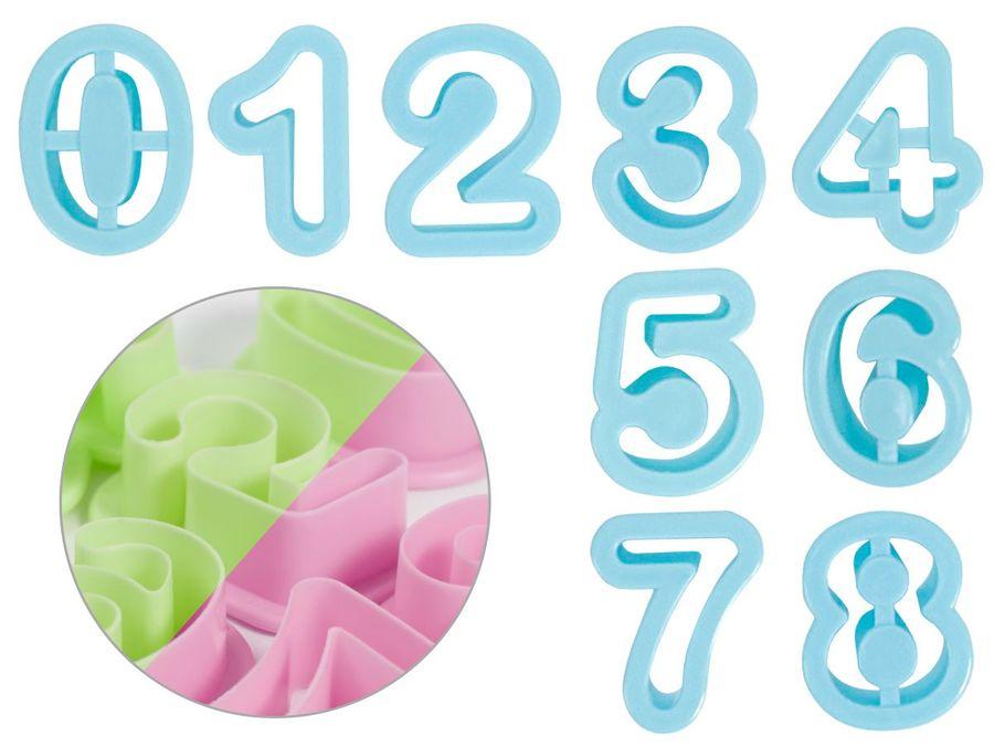 Keksausstecher 9 Stück Wiederverwendbar Ziffern 0-8 von Alsino