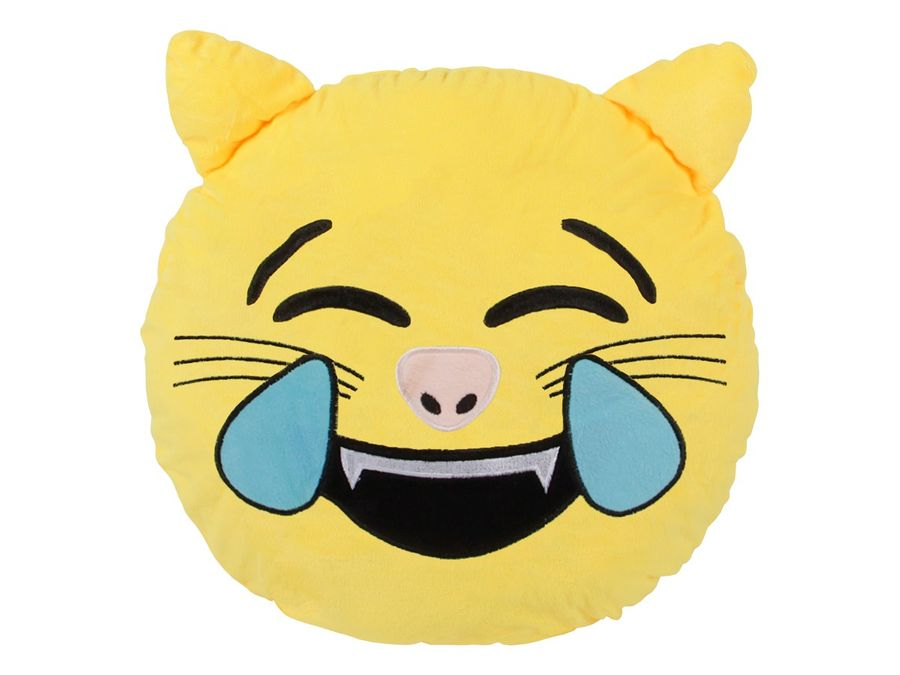 Emojicon Kissen XXL Katze Geist Emoticon Kackhaufen Punk Emojicon-Kissen von Alsino – Bild 2