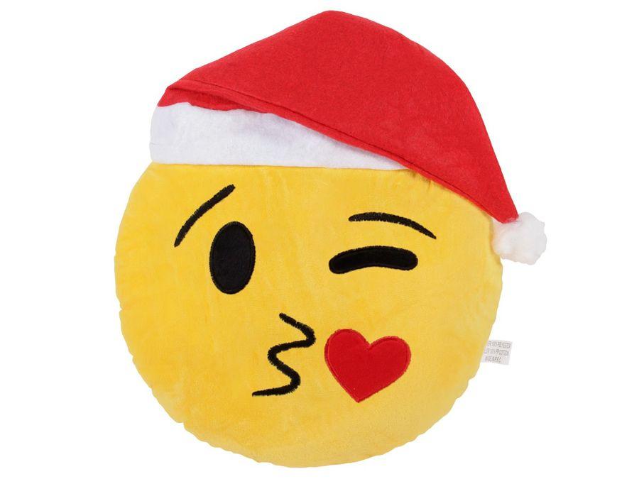 Emojicon Kissen mit Weihnachtsmütze – Bild 6