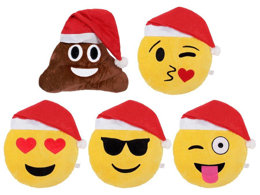 Emojicon Kissen mit Weihnachtsmütze – Bild 1