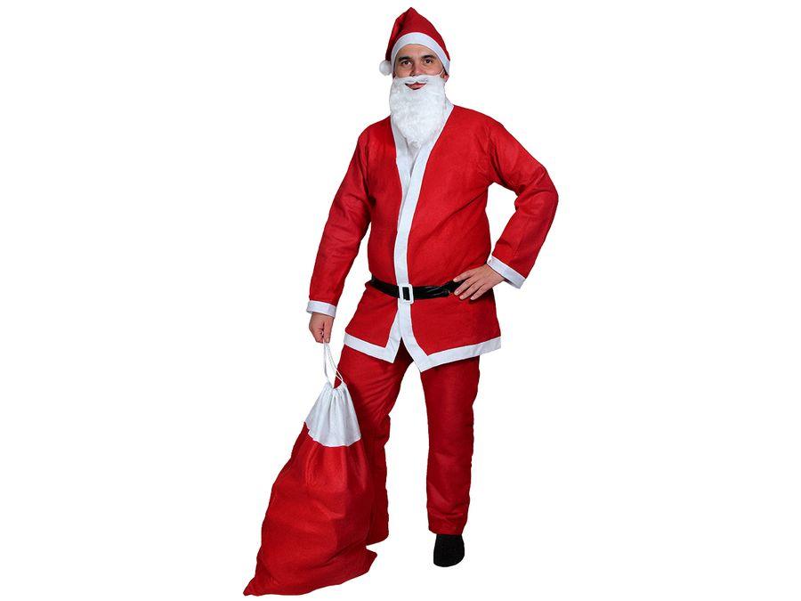 Weihnachtsmann Kostüm & Geschenksack Modell: KV-73a