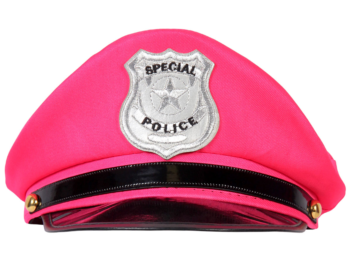 7bf055982b0b6 Casquette Police Américaine pour adultes femme fille (KH-189) ALSINO  Coloris Pink rose