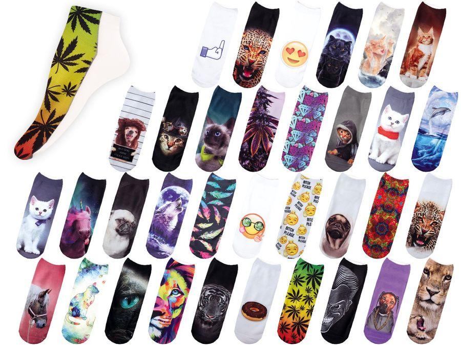 Socken bunt mit lustigen Motiven Print Socken Motivsocken Damen Herren ALSINO