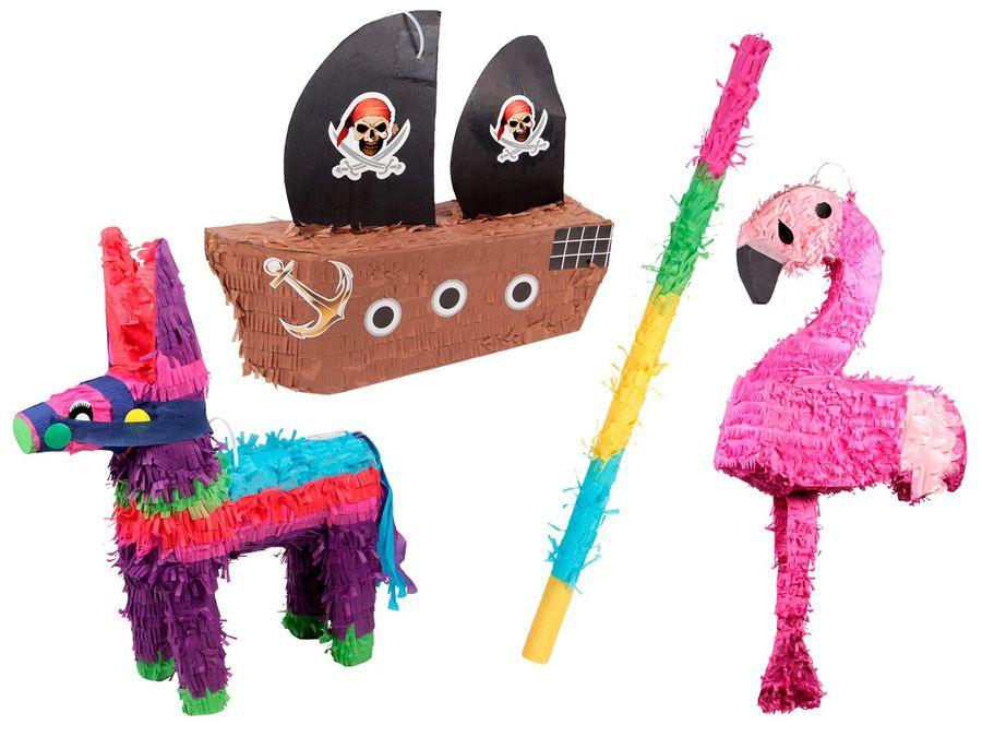 Pinata Geburtstag verschiedene Motive mit Stab Schlagpinata Event Partydeko Dekoration Geburtstagsdeko von Alsino – Bild 1