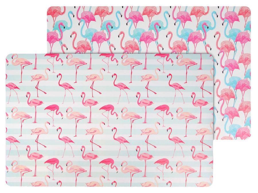 Platzset Motiv 2er Set Flamingo Tischset Kunststoff Platzmatten Abwaschbar Tischunterlage ALSINO