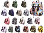 Backpack Ladies Flower Fabric Vintage Style Retro Leisure Backpack Fabric bag by Alsino