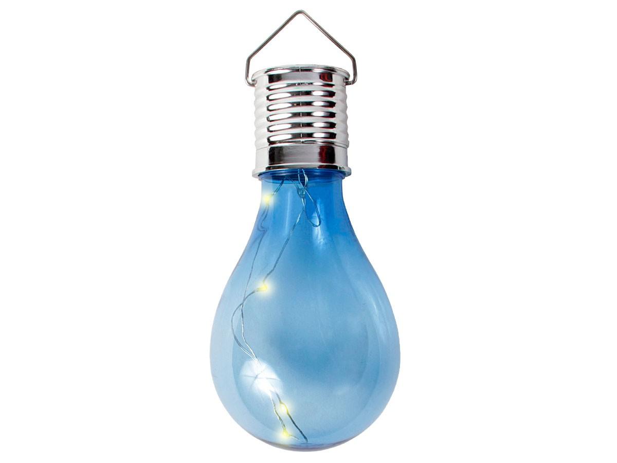 Party LED Solar Birne Glühlampe Lichtsensor farbige Lampe 4 LEDs ...