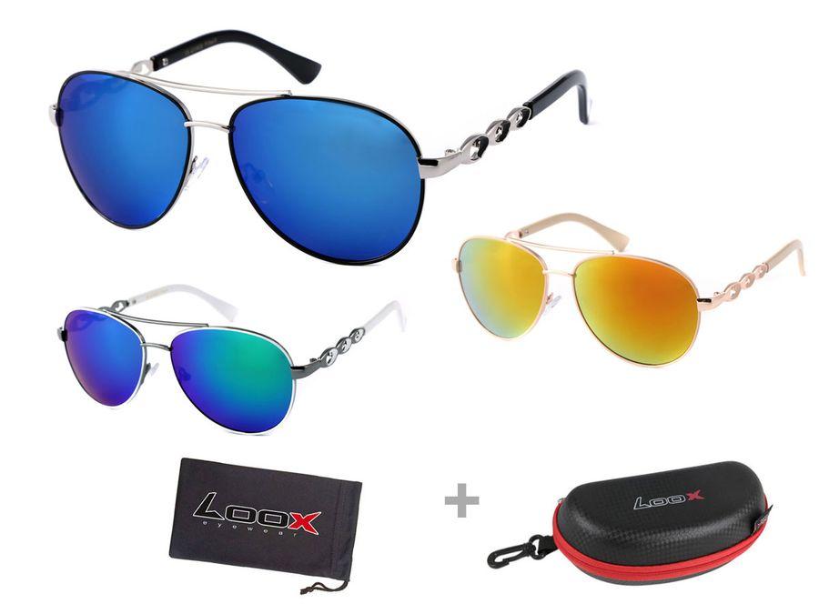 LOOX Pilotenbrillegroße Gläser Retro Modell Long Beach 105 von ALSINO
