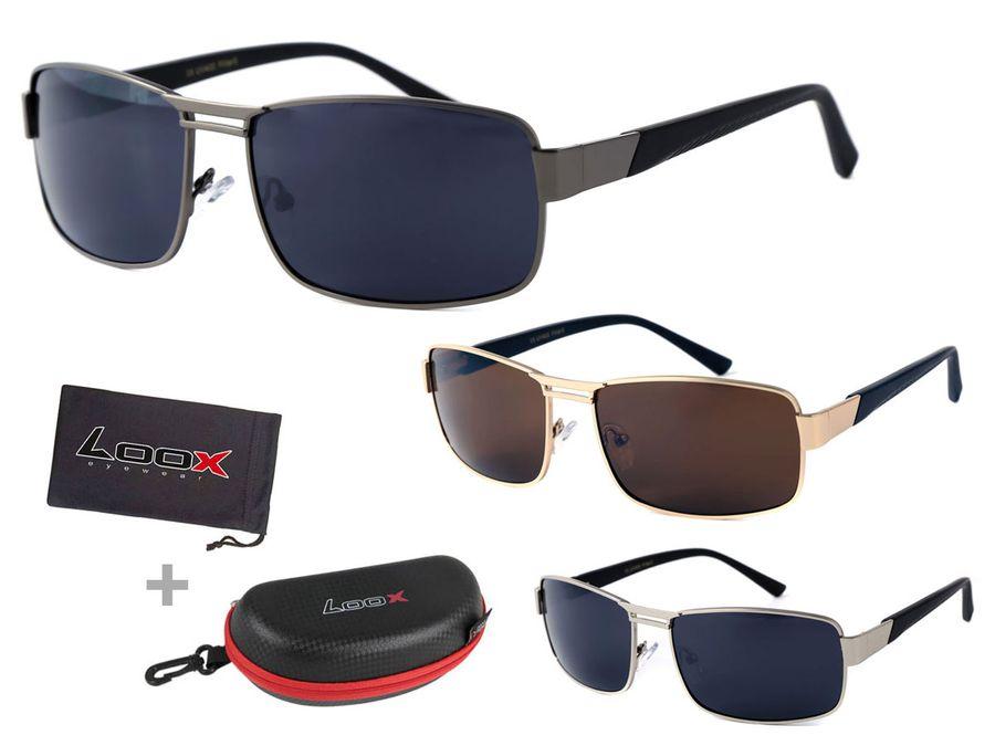 LOOX Pilotenbrille Sonnenbrille Vintage große Gläser Herren Damen Retro Fliegerbrille Modell GOA 111 von ALSINO