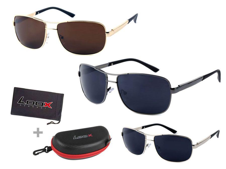 LOOX Pilotenbrille mit Flexbügel Sonnenbrille Vintage Herren Damen Retro Modell Casablanca 113 von ALSINO