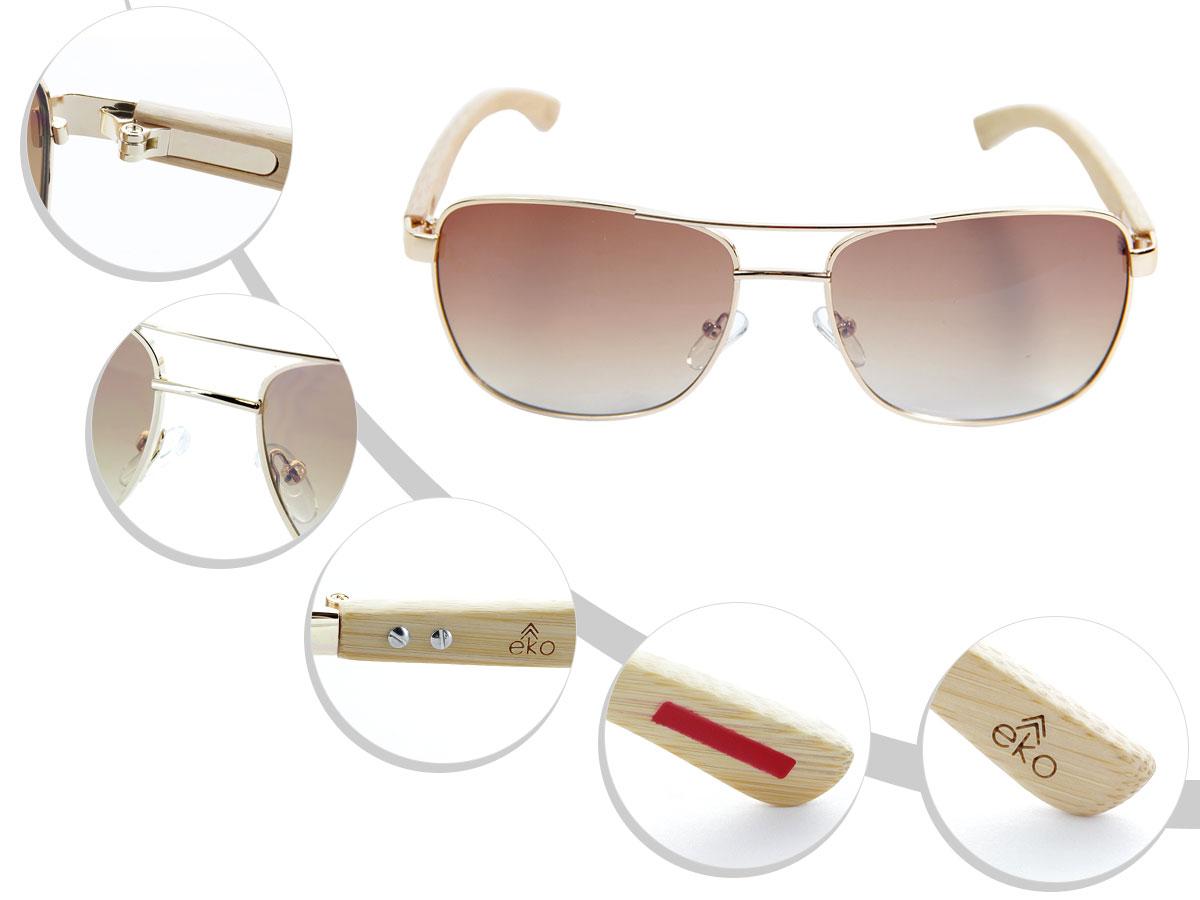 LOOX Pilotenbrille Sonnenbrille Vintage Herren Damen Retro Modell Saigon 115 von ALSINO, Variante wählen:LOOX-115 braun 1