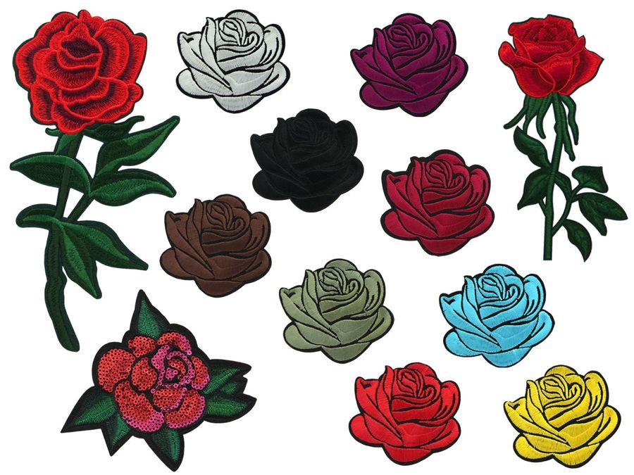 Patches Set Patch Rosen Aufbügel-Patch Aufnäher-Patches Jacke Shirt Cap Hosen Patches-Set von ALSINO – Bild 1