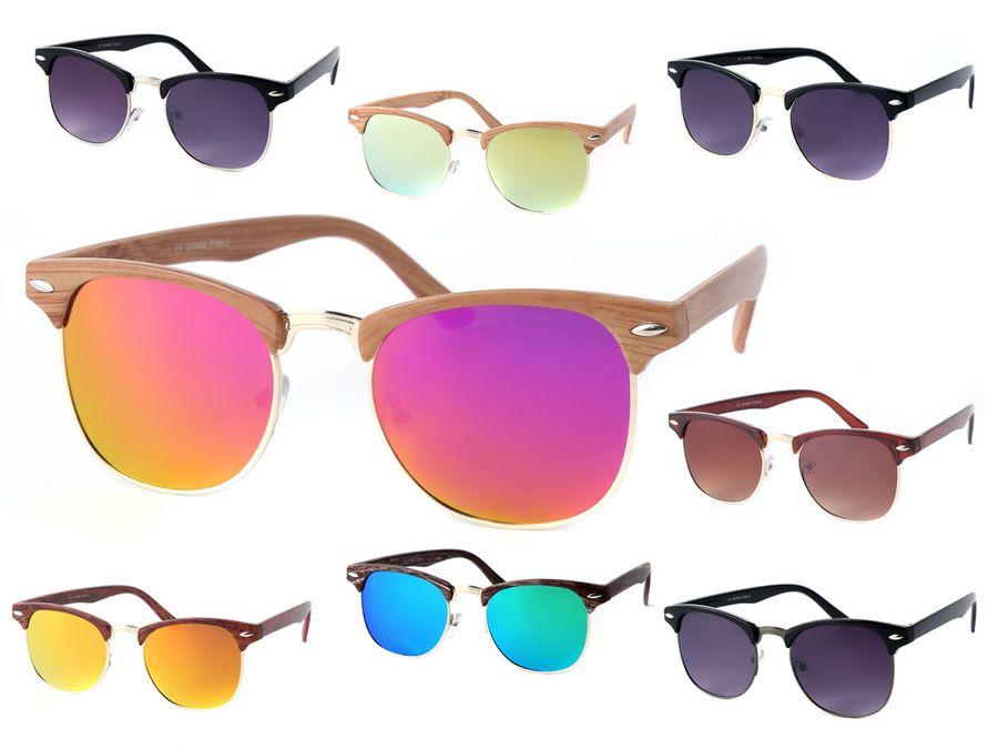 Retro Sonnenbrille Clubstyle 60er Jahre Herren Vintage Halbrahmen von Alsino