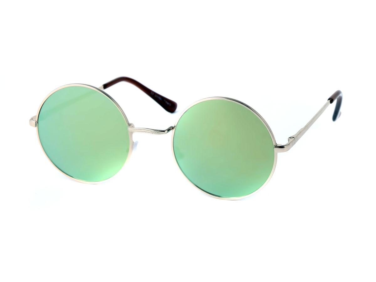 Sonnenbrille Hippie Nerd  John Lennon Brille Runde Gläser Cool Retro
